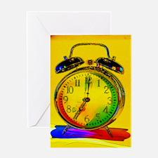 technicolor_clock Greeting Card