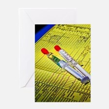 two_needles Greeting Card