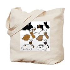 YogaBunnyTestSquare Tote Bag