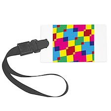 Retro Squares Luggage Tag