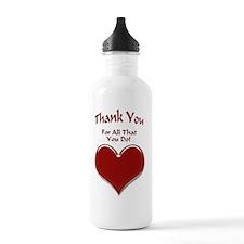 Thank You Heart Sports Water Bottle
