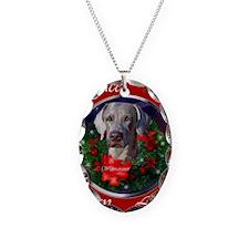weimaranerchristmascard Necklace