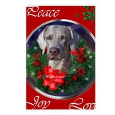 weimaranerchristmascard Postcards (Package of 8)