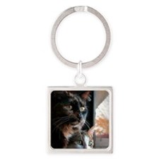 double trouble Square Keychain