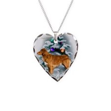 NSDuckTollercard Necklace Heart Charm