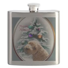 schnoodlechristmasrectangle Flask