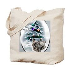skyeterrierchristma card Tote Bag