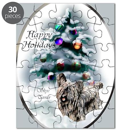 skyeterrierchristma card Puzzle