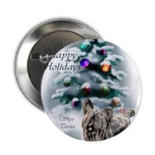 "skyeterrierchristma card 2.25"" Button"