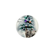 skyeterrierchristma card Mini Button