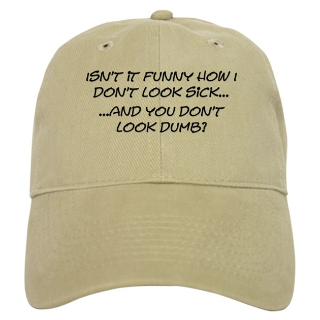 sick dumb baseball cap by americanangst