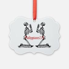 prayer skeleton background Ornament