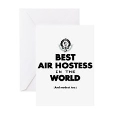 The Best in the World – Air Hostess Greeting Cards