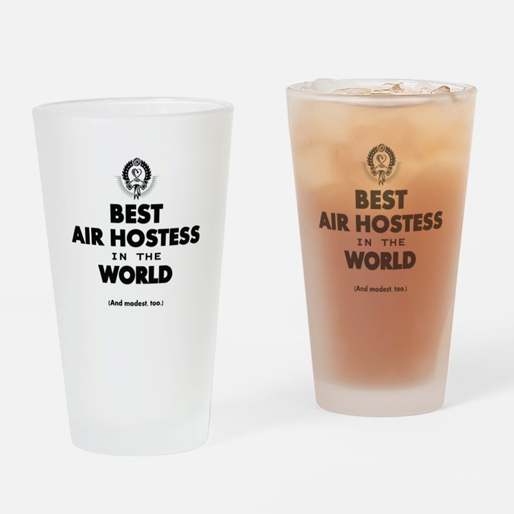 The Best in the World – Air Hostess Drinking Glass