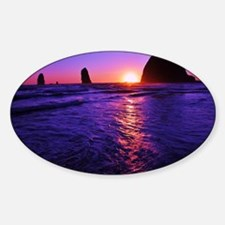 Haystack Rock Sunset Decal