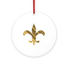 Dat fluer shiney Round Ornament