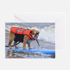 Dozer at Dog Beach Purina Surf Conte Greeting Card