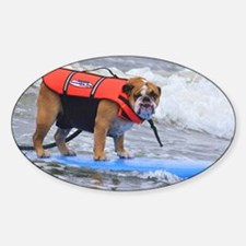 Dozer at Dog Beach Purina Surf Cont Decal