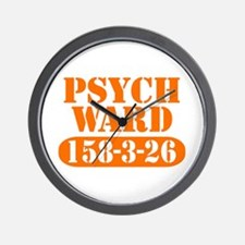 Psych Ward - Orange Wall Clock