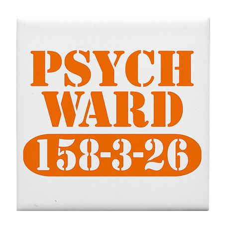 Psych Ward - Orange Tile Coaster
