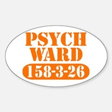 Psych Ward - Orange Oval Decal