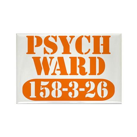 Psych Ward - Orange Rectangle Magnet