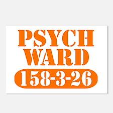 Psych Ward - Orange Postcards (Package of 8)