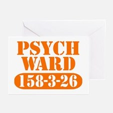 Psych Ward - Orange Greeting Cards (Pk of 10)