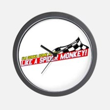 Spider Monkey Wall Clock