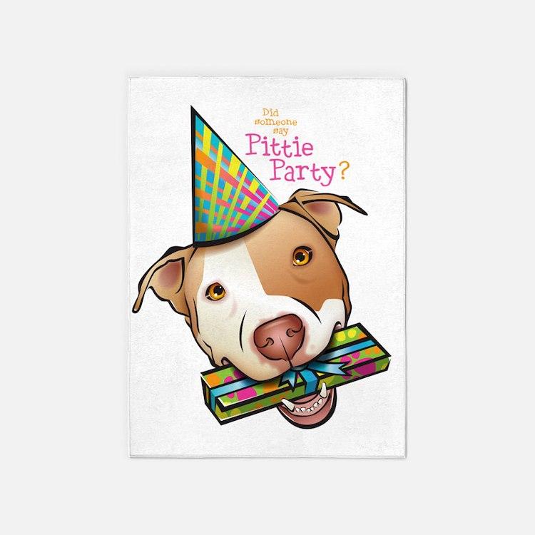 Pittie Party HUGE 5'x7'Area Rug