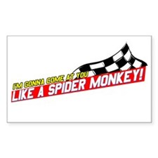 Spider Monkey Rectangle Bumper Stickers