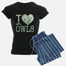 Love Owls Pattern Pajamas