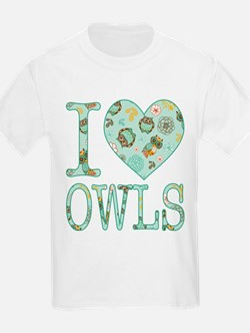 Love Owls Pattern T-Shirt