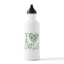 Love Owls Pattern Water Bottle