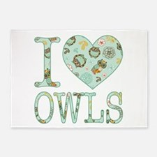 Love Owls Pattern 5'x7'Area Rug