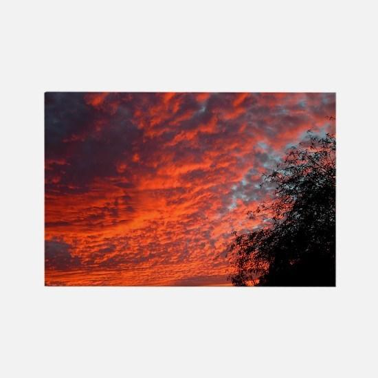 sunset_lp Rectangle Magnet