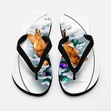 NS Duck Toller Christmas 7 Flip Flops