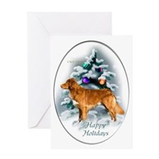 NS Duck Toller Christmas 7 Greeting Card