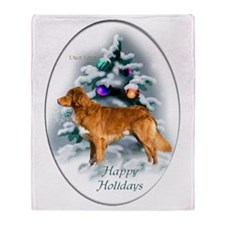 NS Duck Toller Christmas 7 Throw Blanket