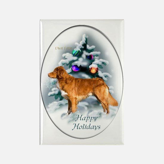 NS Duck Toller Christmas 7 Rectangle Magnet