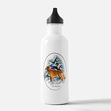 NS Duck Toller Christm Water Bottle