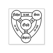 "trinity Square Sticker 3"" x 3"""