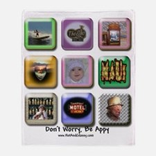 Dont worry Be Appy 2010 Throw Blanket