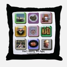 Dont worry Be Appy 2010 Throw Pillow