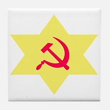 Hammer, Sickle, Star Tile Coaster