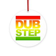 Dub Step RUN Style Round Ornament