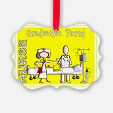 Nurse Graduation Party YELLOW Nov Ornament