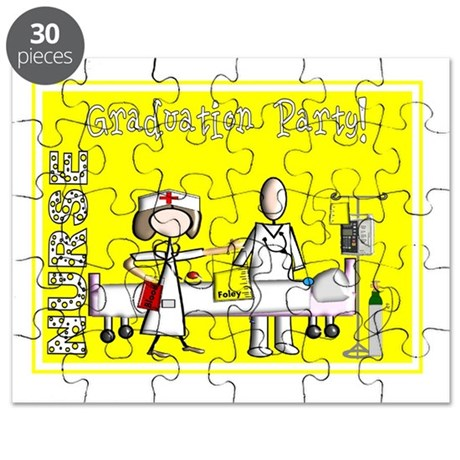 Nurse Graduation Party YELLOW November Puzzle