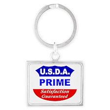 USDA- White Landscape Keychain