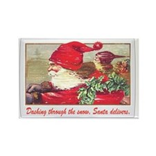 dashing_through_the_snow_Santa_de Rectangle Magnet